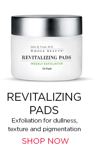 REVITALIZING PADS. Weekly exfoliation pads for dullness, texture and pigmentation. SHOP NOW