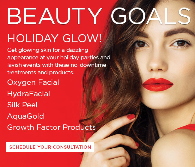 Get glowing skin for a dazzling appearance at your holiday events and lavish parties with these no-downtime treatments and products.