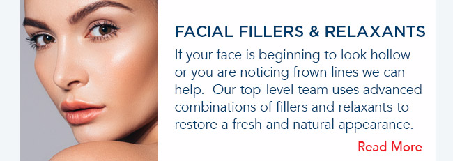 If your face is beginning to look hollow or you are noticing frown lines we can help.  Our top-level team uses advanced combinations of fillers and relaxants to restore a fresh and natural appearance.
