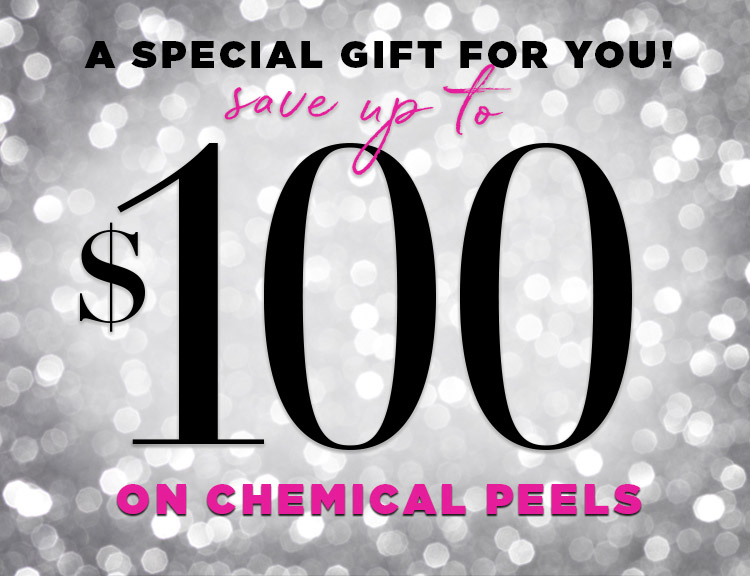 Save up to 100 dollars on Chemical Peels